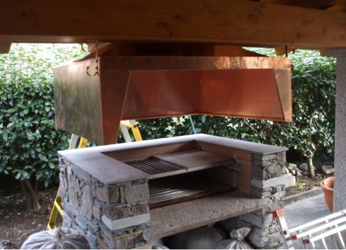 Cappe per barbecue esterno tavolo consolle allungabile - Caminetto per esterno ...